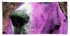 Basset Hound - Pop Art Pink Bath Towel