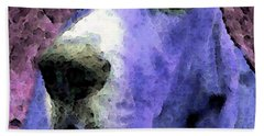 Basset Hound - Pop Art Purple Bath Towel