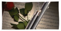 Bassoon Music Instrument Photograph In Color 3406.02 Hand Towel