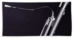 Bassoon Music Instrument Fine Art Prints Canvas Prints Greeting Cards In Black And White 3407.01 Bath Towel