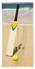 Bat Ball And Stumps Hand Towel by Jorgo Photography - Wall Art Gallery