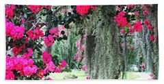 Baton Rouge Louisiana Crepe Myrtle And Moss At Capitol Park Hand Towel