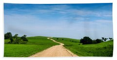 Battle Creek Road From The Saddle Bath Towel