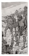 Battle Of Bouvines, 1214.  From Agenda Buvard Du Bon Marche Published 1917 Hand Towel