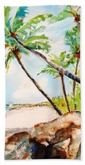 Bavaro Tropical Sandy Beach Hand Towel