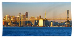 Bay Bridge & San Francisco From Port Hand Towel
