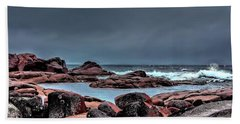 Hand Towel featuring the photograph Bay Of Fires 3 by Wallaroo Images