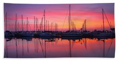 Bayfield Wisconsin Magical Morning Sunrise Hand Towel