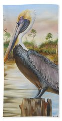 Bayou Coco Point Pelican Hand Towel