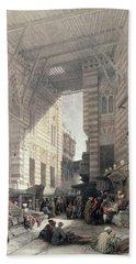 Bazaar Of The Silk Merchants, Cairo Bath Towel