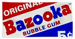 Bazooka Bubble Gum  Bath Towel