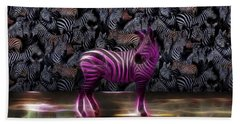 Be Courageous - Be Different - Zebra Bath Towel