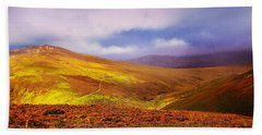 Be There The Light. Wicklow Hills Bath Towel by Jenny Rainbow