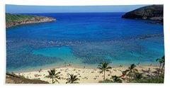 Beach At Hanauma Bay Oahu Hawaii Usa Hand Towel