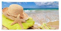 Beach Bag With Sun Hat Bath Towel
