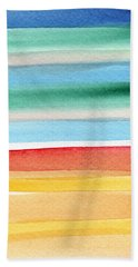 Beach Blanket- Colorful Abstract Painting Hand Towel