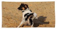 Beach Dog Pose Bath Towel
