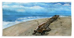 Bath Towel featuring the painting Beach Drift Wood by Melly Terpening