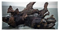 Beach Driftwood In Color Hand Towel