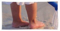 Hand Towel featuring the photograph Beach Feet  by Nava Thompson