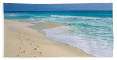 Beach Footprints Bath Towel