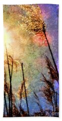 Hand Towel featuring the photograph Beach Grass Afternoon by Janine Riley
