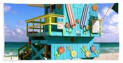 Beach Life In Miami Beach Bath Towel