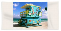 Beach Life In Miami Beach Bath Towel