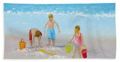 Beach Painting - Sandcastles Bath Towel