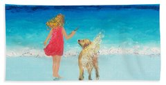 Beach Painting 'sunkissed Hair'  Hand Towel