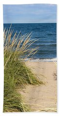 Beach Path Bath Towel by Barbara McMahon