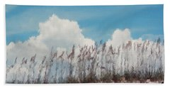 Hand Towel featuring the photograph Beach Scene In Brush Stroke by Belinda Lee