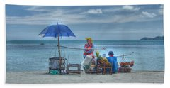 Beach Sellers Hand Towel by Michelle Meenawong