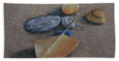 Hand Towel featuring the painting Beach Still Life IIi by Pamela Clements