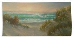 Cape Cod Beach Sunset Dunes Print  Bath Towel