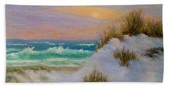 Beach Sunset Paintings Bath Towel