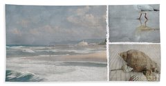 Beach Triptych 1 Hand Towel by Linda Lees