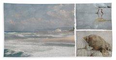 Beach Triptych 1 Bath Towel by Linda Lees