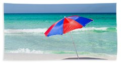 Beach Umbrella Bath Towel by Shelby  Young