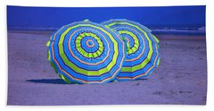 Beach Umbrellas By Jan Marvin Studios Bath Towel