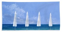 Beach Umbrellas Hand Towel