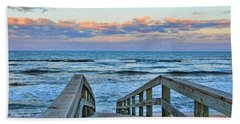Hand Towel featuring the photograph Beach Walk by Kenny Francis