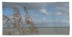 Bath Towel featuring the photograph Beachview With Seaoat  by Christiane Schulze Art And Photography