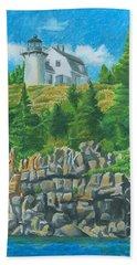 Bear Island Lighthouse Bath Towel