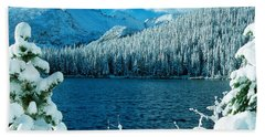 Bear Lake Hand Towel by Eric Glaser