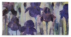 Bearded Irises Bath Towel