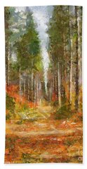 Hand Towel featuring the painting Beautiful Autumn by Dragica  Micki Fortuna
