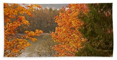 Beautiful Autumn Gold Art Prints Hand Towel by Valerie Garner
