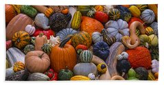 Beautiful Autumn Harvest Bath Towel