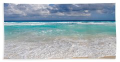 Beautiful Beach Ocean In Cancun Mexico Hand Towel